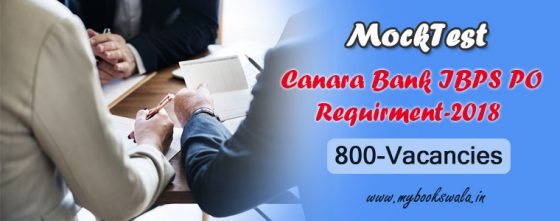 Canara Bank PO Recruitment 2018, Apply Online Mock Test